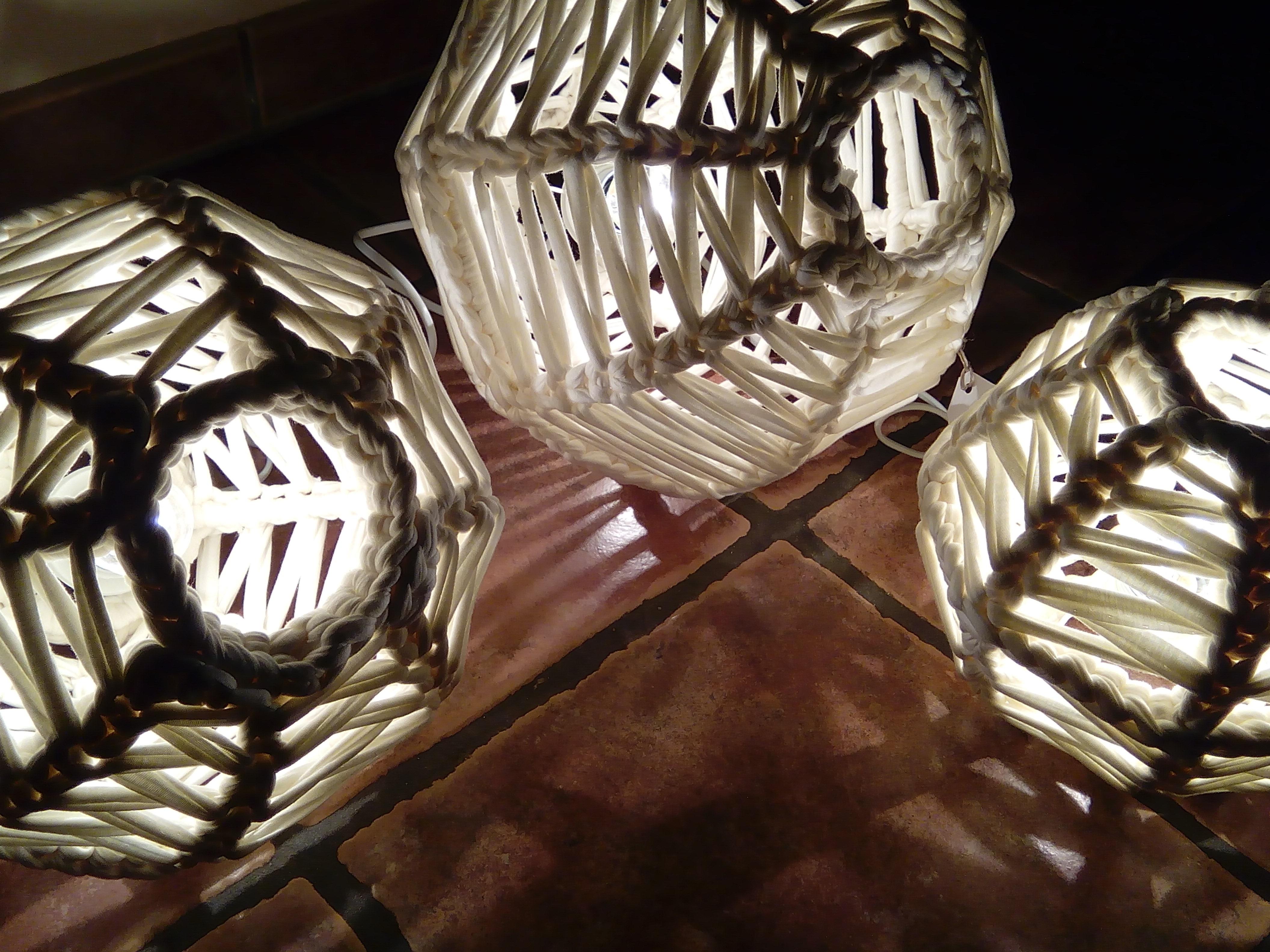 Lámparas esféricas de trapillo1