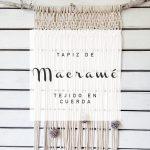 Tápiz macramé tejido en cuerda