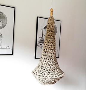 Lámpara crochet XL sin estructura