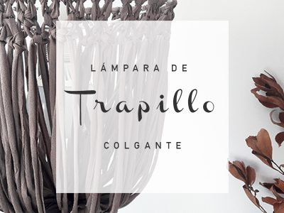 LÁMPARA  DE TRAPILLO COLGANTE