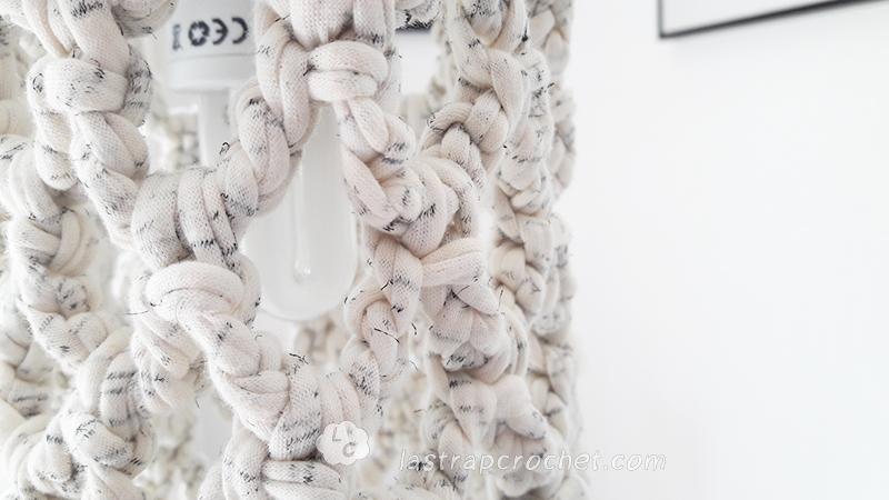 lampara colgante vintage crochet xl