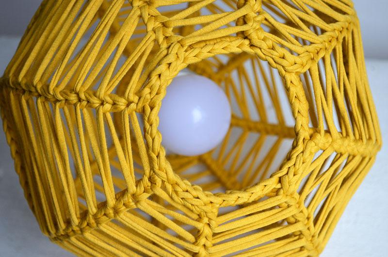 lampara esferica en crochet nº 1-14