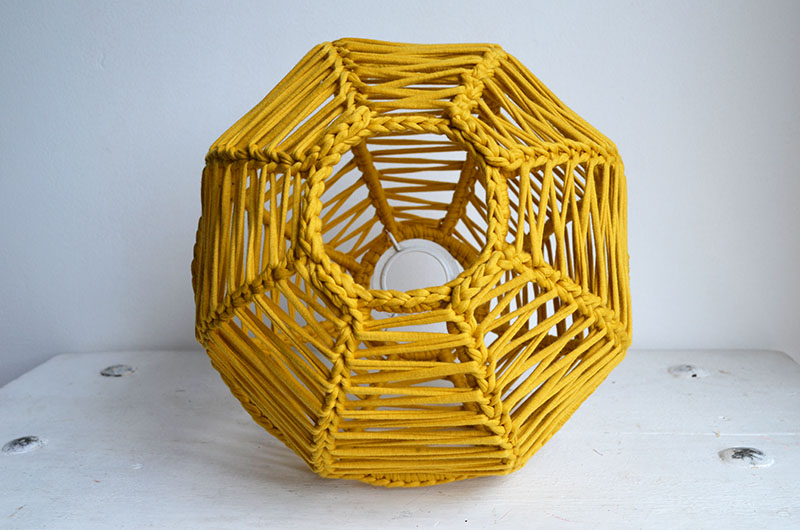 lampara esferica en crochet nº 1-15