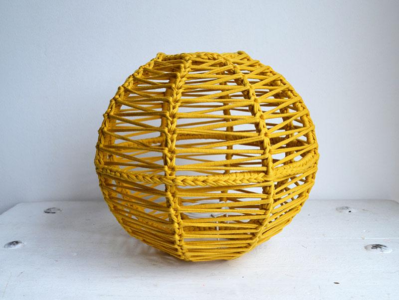 lampara esferica en crochet nº 1-17