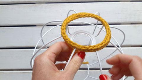lampara esferica en crochet nº 1-21