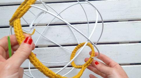 lampara esferica en crochet nº 1-22