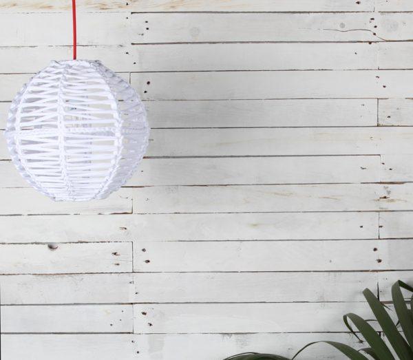 lampara esferica en crochet